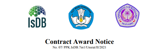Contract Award Notice – Procurement of Laboratory Equipment for Faculty of Engineering in Sam Ratulangi University
